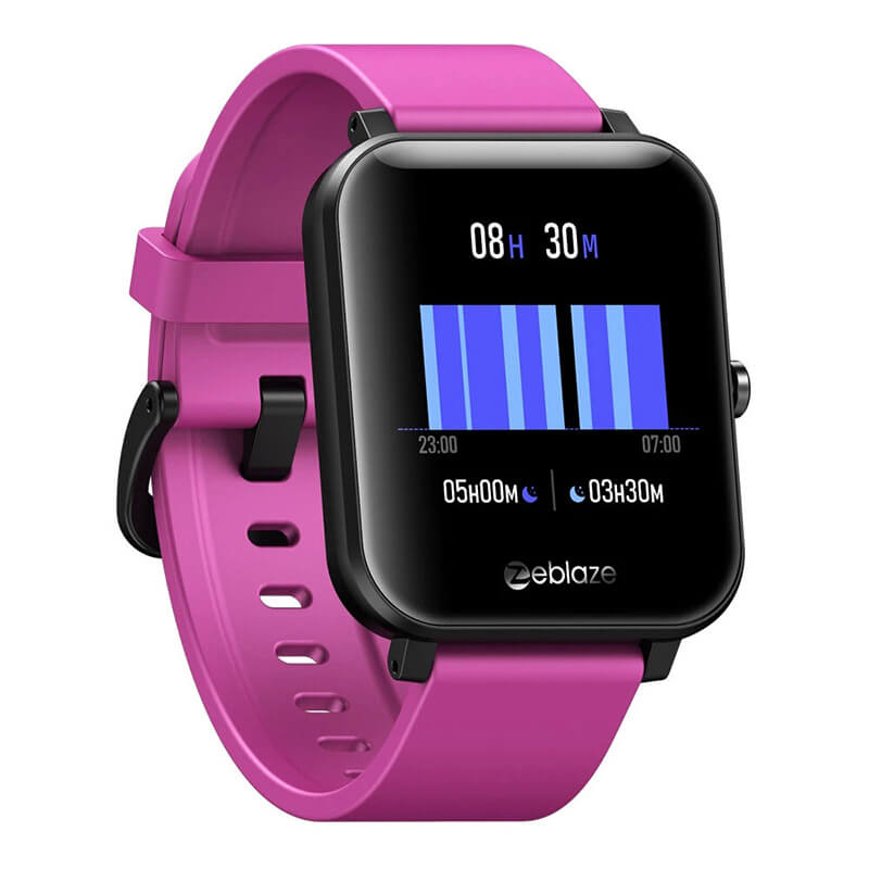Zeblaze GTS Smartwatch Purple strap