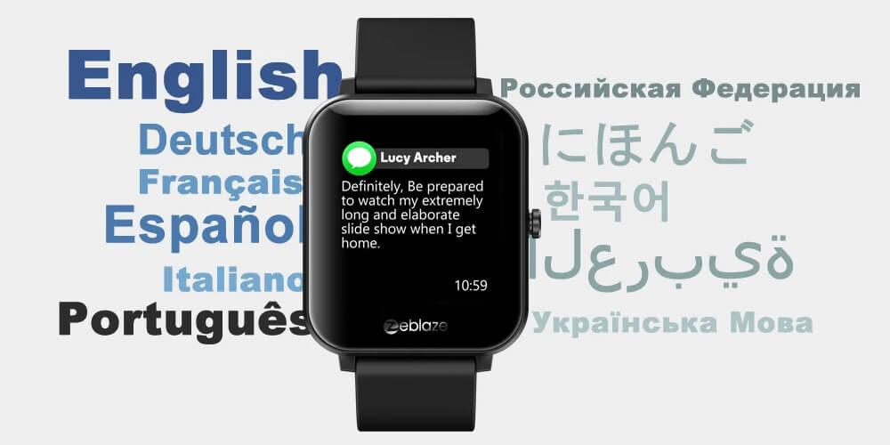 Zeblaze GTS Languages