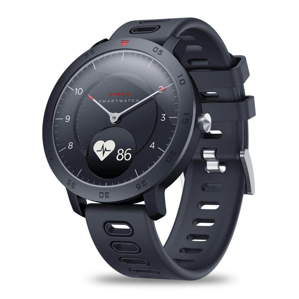 Zeblaze HYBRID Hidden touch screen display and real watch hands