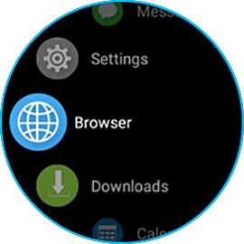 Zeblaze THOR 4 Dual browser