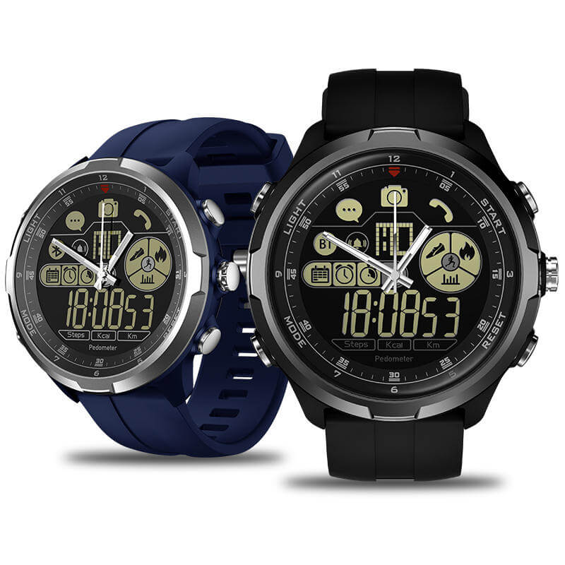 Zeblaze Vibe 4 Hybrid black blue watch